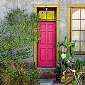 Barrio Door Pink And Gray by Mark Valentine