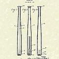 Baseball Bat 1924 Patent Art by Prior Art Design