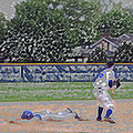 Baseball Playing Hard Digital Art by Thomas Woolworth