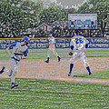 Baseball Runner Heading Home Digital Art by Thomas Woolworth