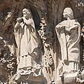 Basilica Sagrada Familia Nativity Facade Detail by Matthias Hauser