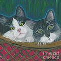 Basket Of Kitties by Ania M Milo