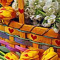 Basket Of Spring Flowers by Garry Gay