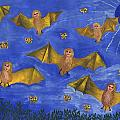 Bat People At The Pipistrelle Party by Sushila Burgess