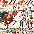 Battle Of Hastings Bayeux Tapestry by Photo Researchers