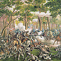 Battle Of The Wilderness May 1864 by American School