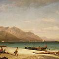 Bay Of Salerno by Albert Bierstadt