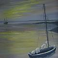 Bayside Boat by Patricia Lang