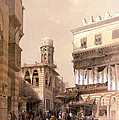Bazaar Of The Coppersmiths Cairo by Munir Alawi