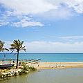 Beach And Sea On Costa Del Sol by Artur Bogacki