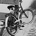 Beach Bike - Black And White by Paulette Thomas
