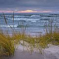 Beach By Holland Michigan No 0192 by Randall Nyhof