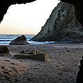 Beach Cave At Bandon Oregon by Athena Mckinzie