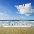 Beach, Ocean, Sky, And Clouds by Skip Brown