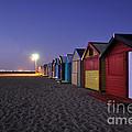 Beach Sheds At Dusk by Nishan De Silva