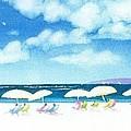 Beach Umbrellas by Joseph Gallant