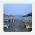 Beach Umbrellas Spain by John Shiron
