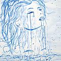 Beautiful Sea Woman Watercolor Painting by Georgeta  Blanaru