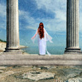 Beautiful Woman In White by Jill Battaglia