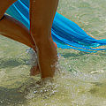 Beautiful Woman Legs In The Crystal Water by Jenny Rainbow