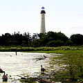 Behind The Cape May Lighthouse by Bill Cannon