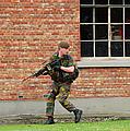 Belgian Infantrists Under Attack by Luc De Jaeger
