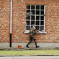 Belgian Soldiers On Patrol by Luc De Jaeger