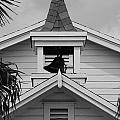 Bell Tower In Black And White by Rob Hans