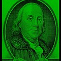 Ben Franklin In Green by Rob Hans