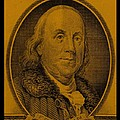 Ben Franklin In Orange by Rob Hans