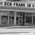 Ben Franklin Says Goodbye - Bw by Elizabeth Sullivan