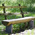 Bench Made Of Wood by Mats Silvan