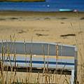 Bench On The Beach by Bonnie Myszka
