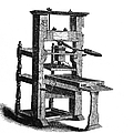 Benjamin Franklins Printing Press by Science Source