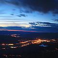 Berkshire Evening From Spruce Hill Savoy Mountain by John Burk