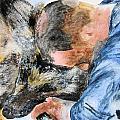 Best Friends-watercolor Study by Maris Sherwood