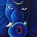 Bhalchandra-moon Crested Lord Ganesha by Nirendra Sawan