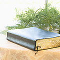 Bible And Microphone On Table by Ned Frisk