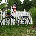 Bicycle And Picket Fence by Jack Schultz
