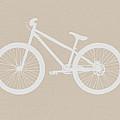 Bicycle Brown Poster by Naxart Studio