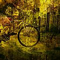 Bicyclist On The Move No. Ol4 by Randall Nyhof