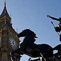 Big Ben And Boadicea Statue  by David Pyatt