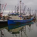 Big Blue Fishing Boat by Randy Harris