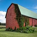 Big Red Barn On Rt 227 by Gary Heller