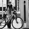 Biker Chick by David Sanchez