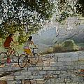 Bikes And Bricks by Anita Burgermeister
