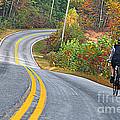Biking In Autumn by Lydia Holly