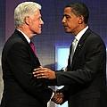 Bill Clinton, Barack Obama At A Public by Everett