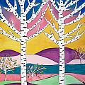 Birch Trees by Kathy Augustine