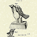 Bird In The Hand Coin Bank 1943 Patent Art by Prior Art Design